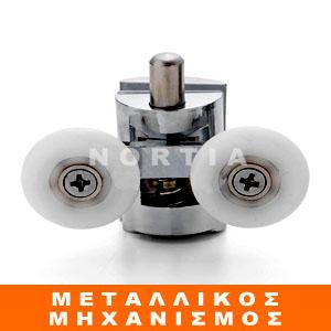 Ροδάκι καμπίνας μπάνιου με μεταλλικό μηχανισμό