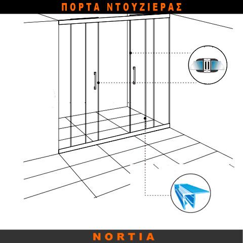 πόρτα ντουζιερας-λαστιχο ντουζιερας